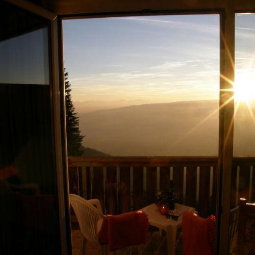 Sonnenuntergang am Balkon